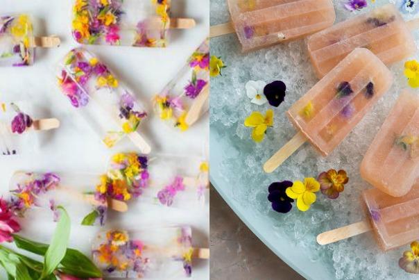 catering, ehető virágok